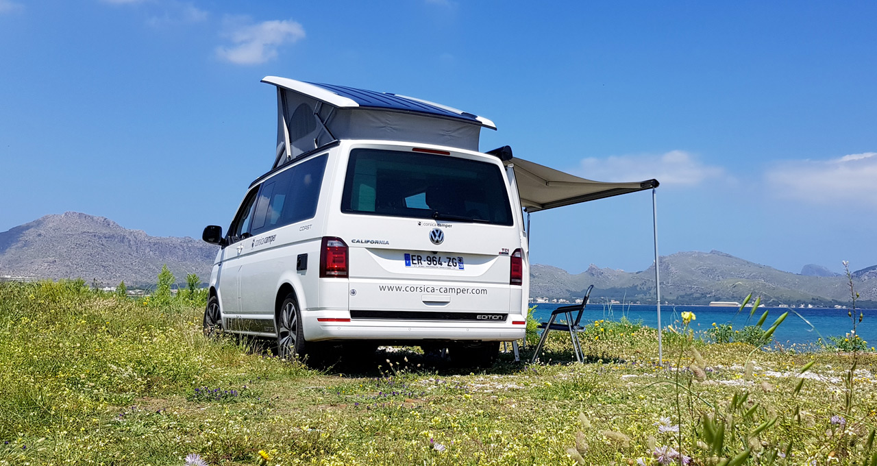 VW campervan tours on Corsica